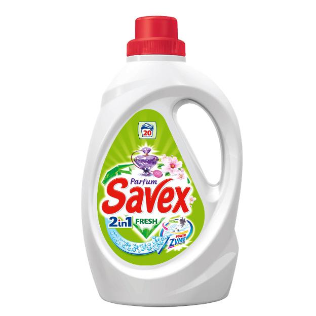 Гел за Пране Savex 2 в 1 Fresh 1.3л
