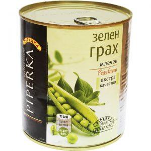 зелен грах консерва