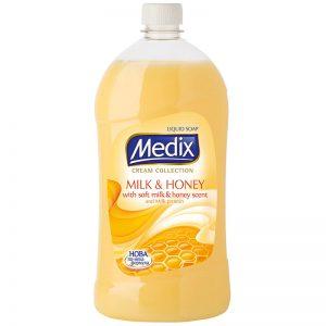 течен сапун - мляко и мед