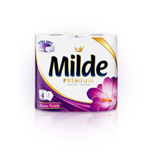 тоалетна хартия милде лилава