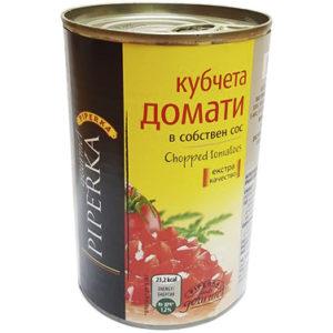 кубчета домати консерва