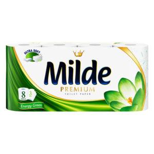 тоалетна хартия милде зелена 8 бр