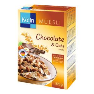 шоколад и овес мюсли kolln