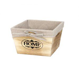 дървена кутия в натурален цвят