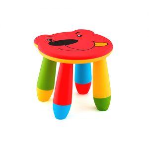 детско столче мече жълто