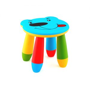 детско синьо столче мече