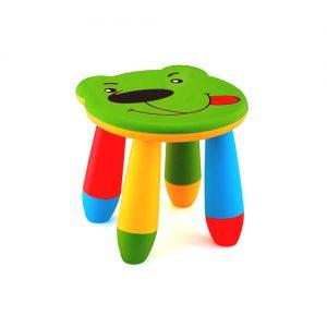 детско столче мече зелено