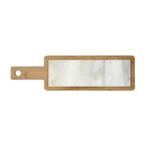 бамбукова дъска с мраморна плоча
