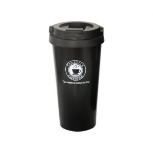 черна термочаша с лого 500 мл