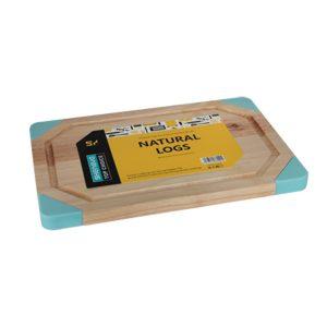 дървена дъска за рязане със силиконови ъгли